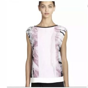 Helmut Lang Marble Relaxed Fit tank Top Black Pink
